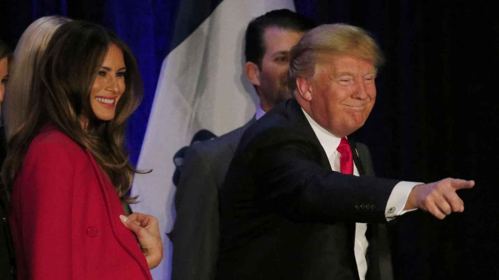 Donald Trump, junto a su mujer Melania.