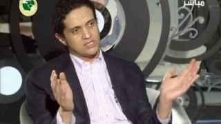 El poeta saudí en una entrevista
