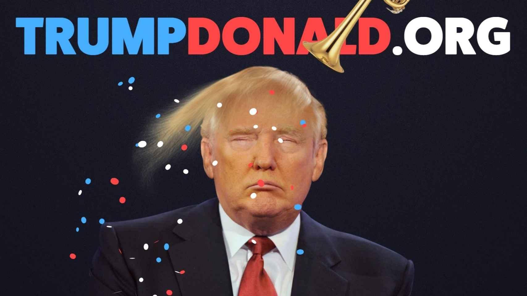 Las trompetas también lanzan confeti en su cara