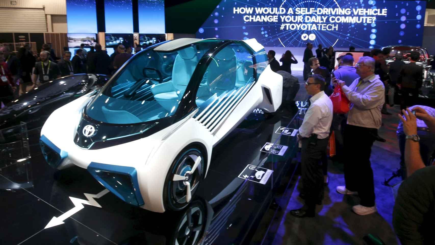 Prototipo con pila de hidrógeno presentado en el CES 2016.
