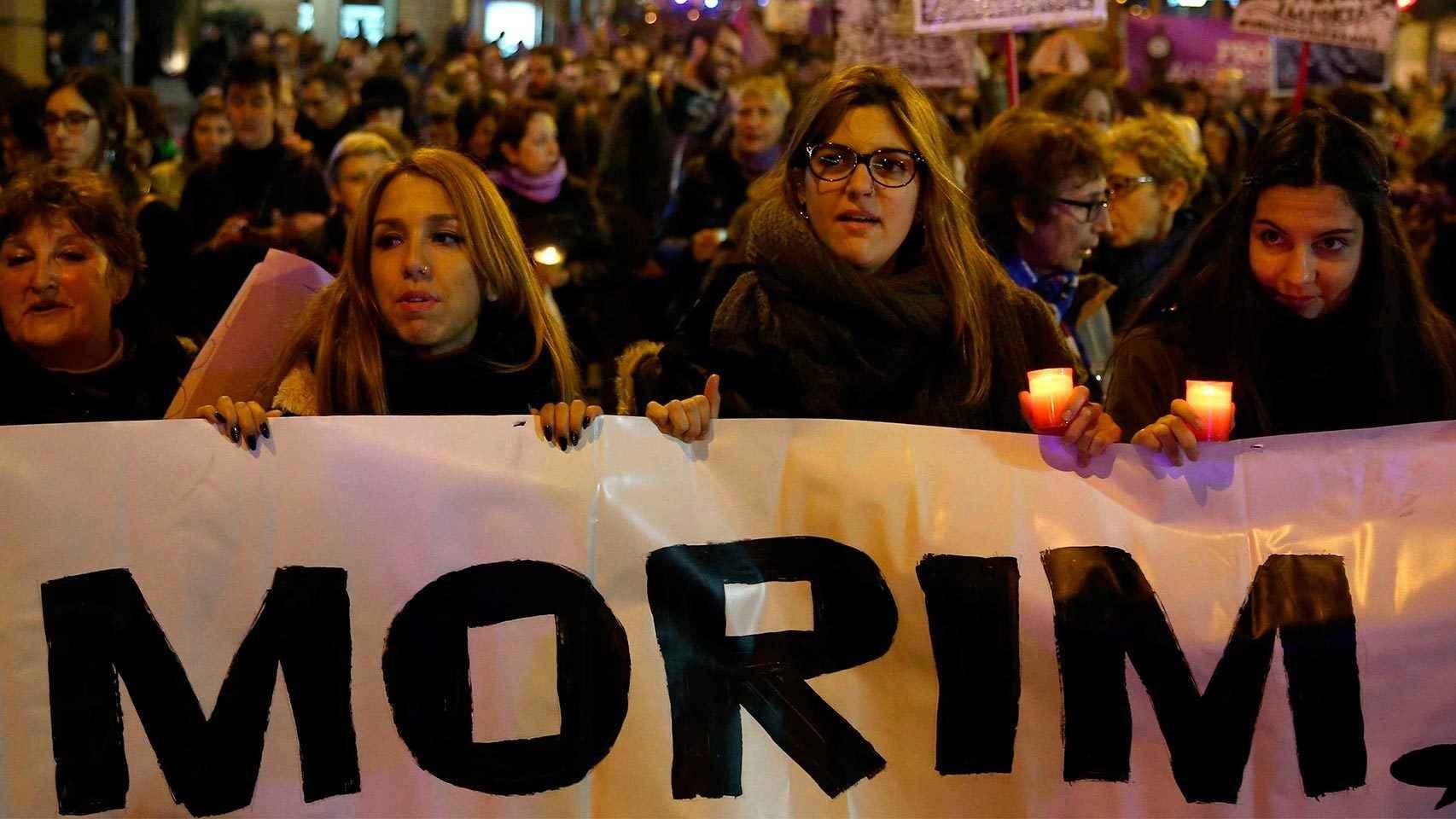 Manifestación celebrada en Barcelona en noviembre de 2015 contra la violencia de género.