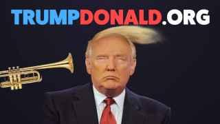 Así se le queda la cara a Donald Trump tras tocar la trompeta en su cara