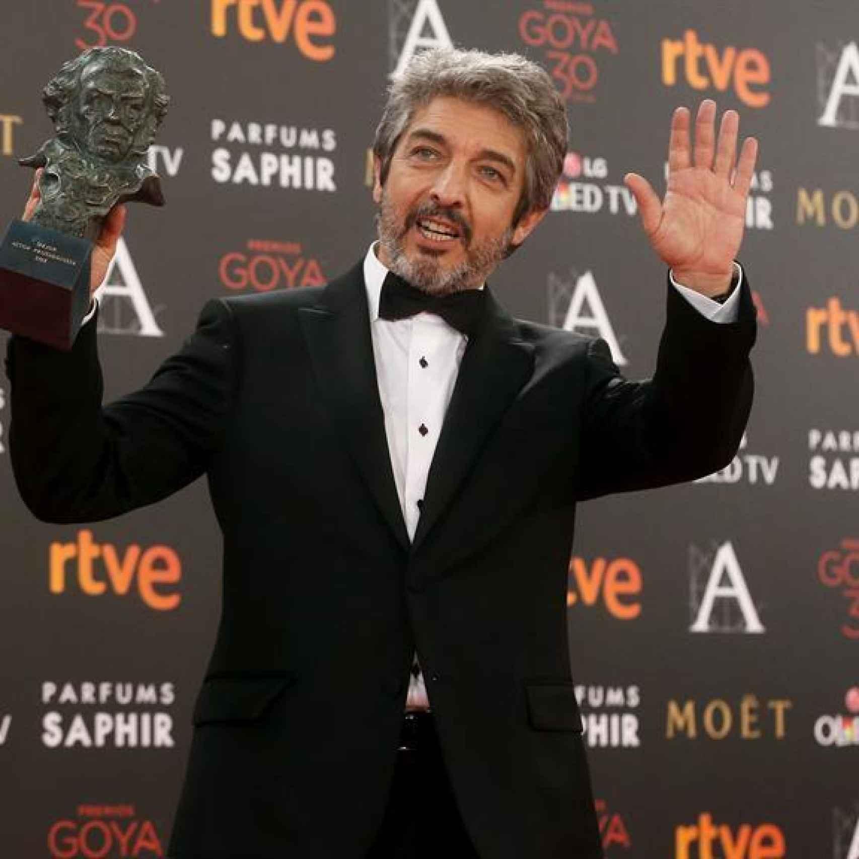 Ricardo Darín con su Goya al mejor actor