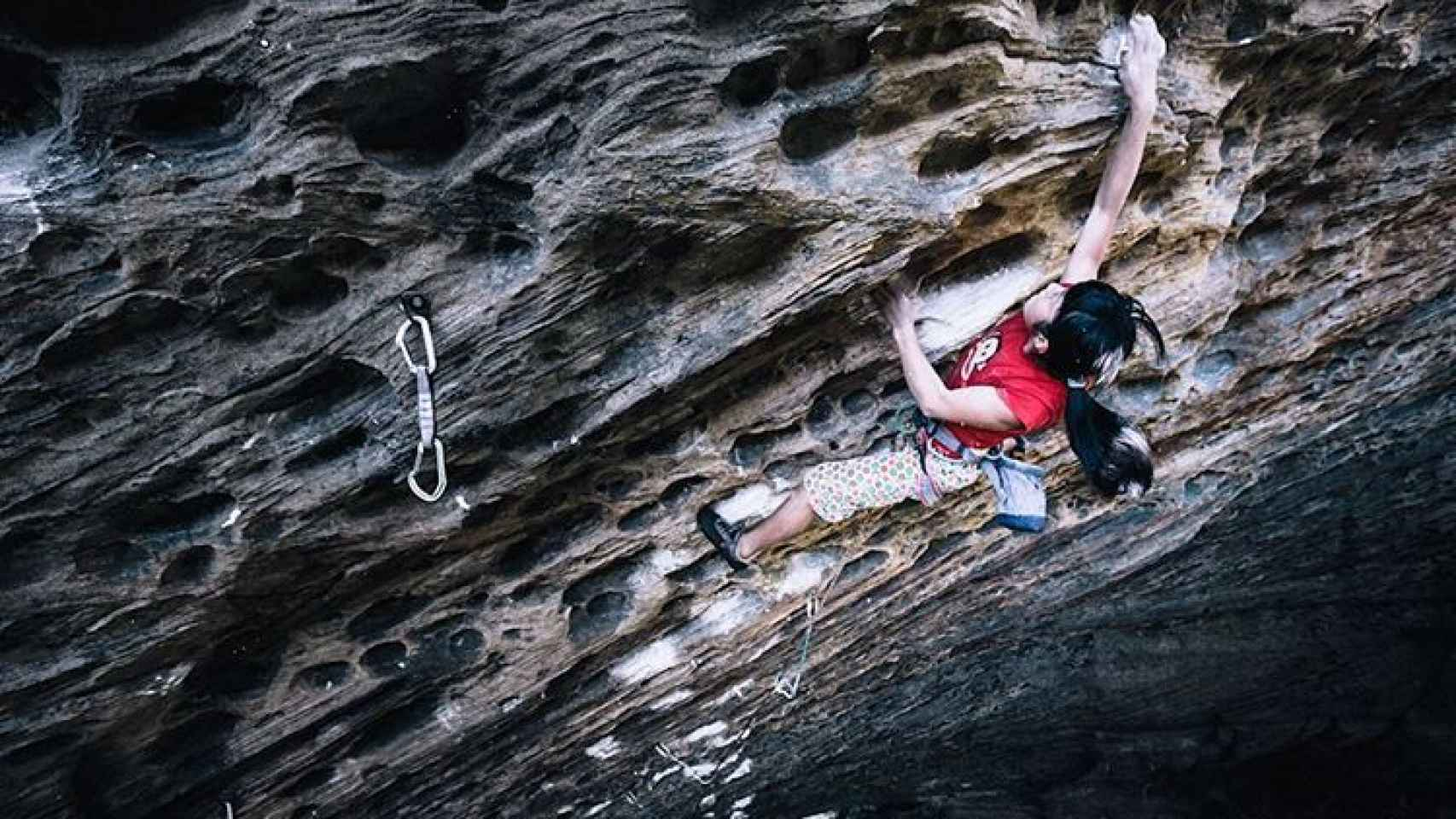 Ashima Shiraisi en una de sus escaladas.