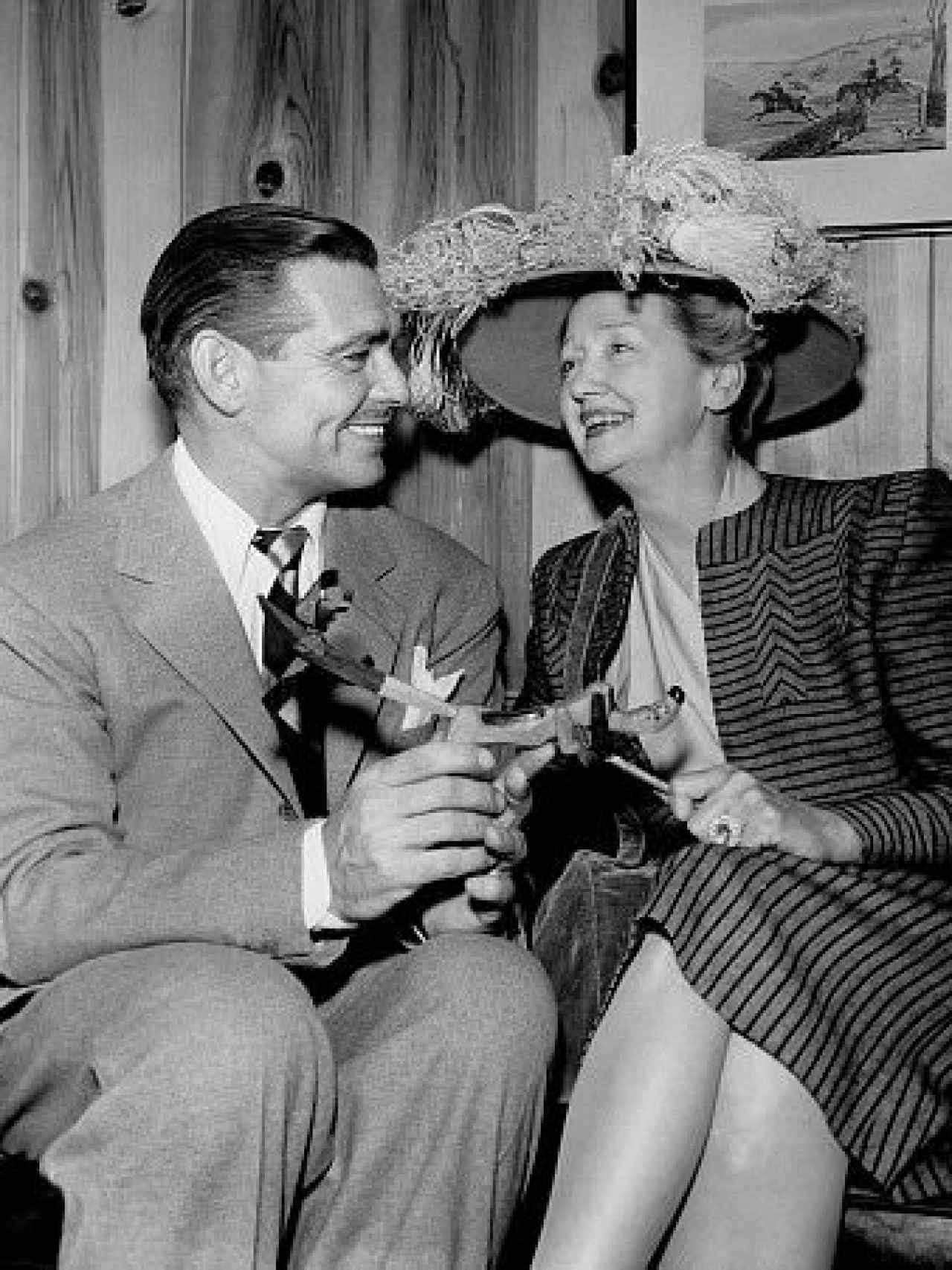 Hopper adoraba a Clark Gable al que no paraba de besar