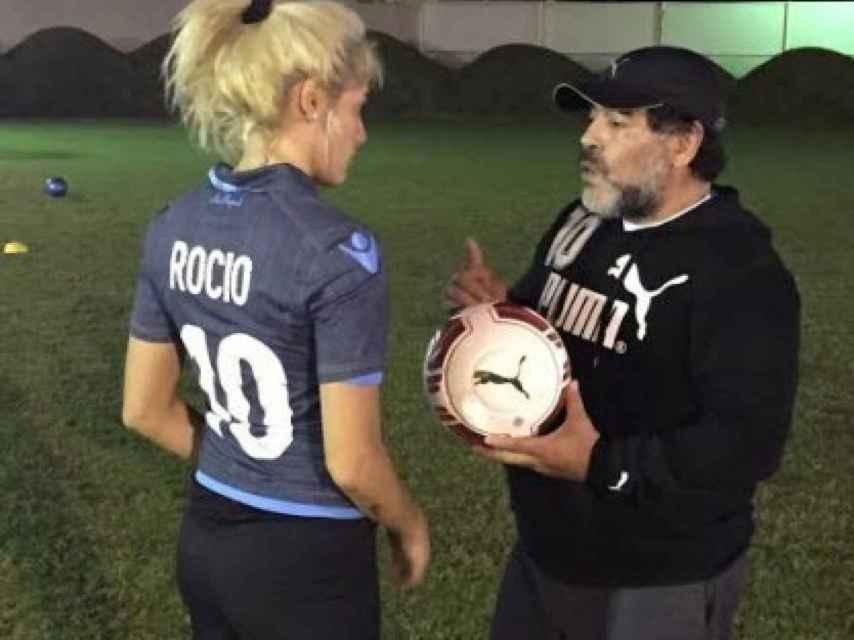 Diego y Rocío entrenan juntos por la noche