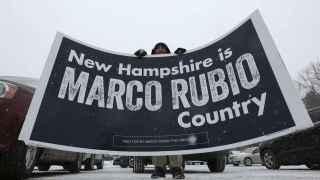 Un simpatizante del republicano Marco Rubio en New Hampshire.