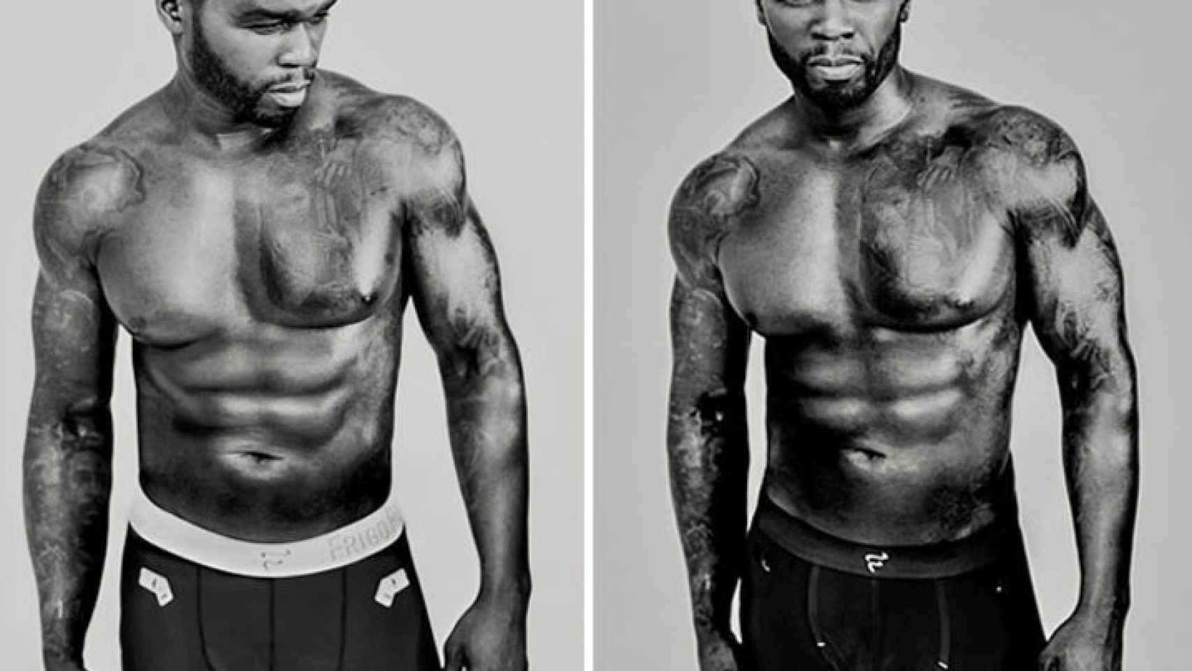 50 Cent consiguió sus abdominales con los consejos de su amigo Jay Cardiello