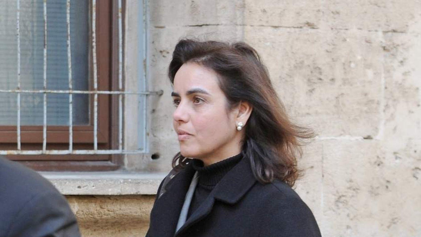 na María Tejeiro en mayo de 2015 cuando acudió a declarar en los juzgados de Palma