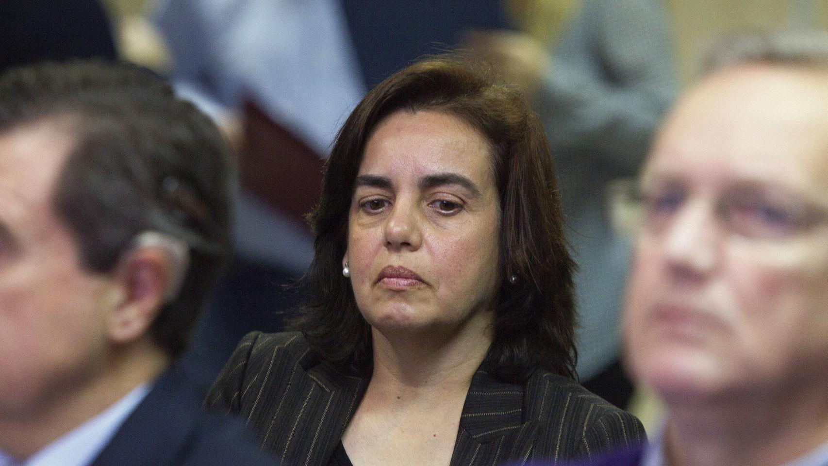 Ana María el pasado 11 de enero, durante la primera sesión del juicio