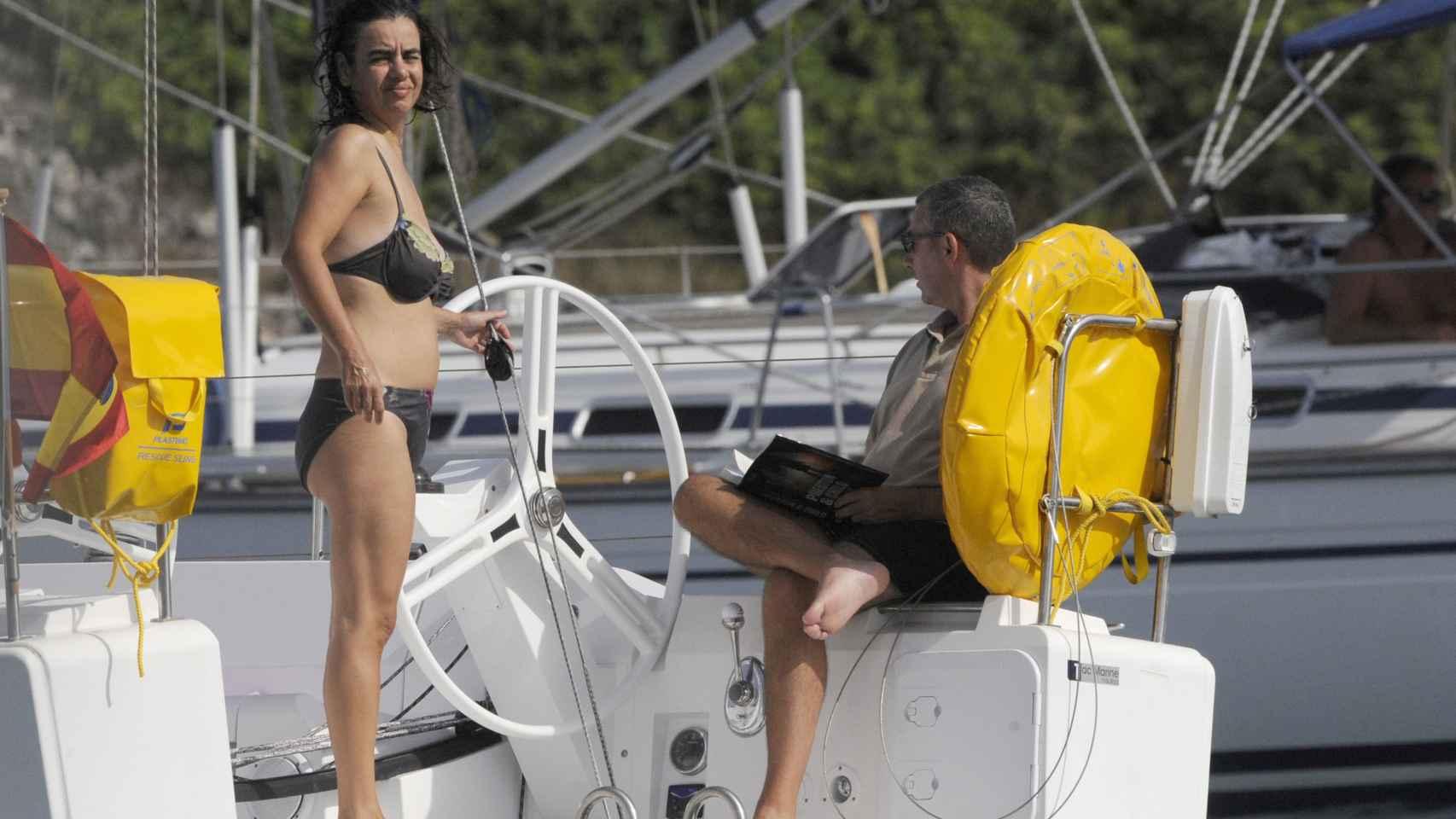 El matrimonio Torres -Tejeiro durante unas vacaciones en Menorca en 2012