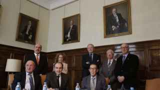 Presidentes y directores de las nueve reales academias españolas durante la presentación