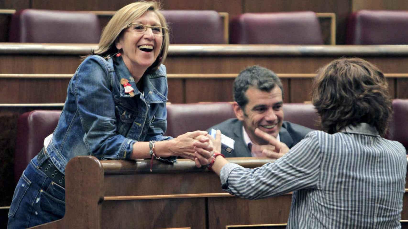 Rosa Díez, Toni Cantó e Irene Lozano en el Congreso