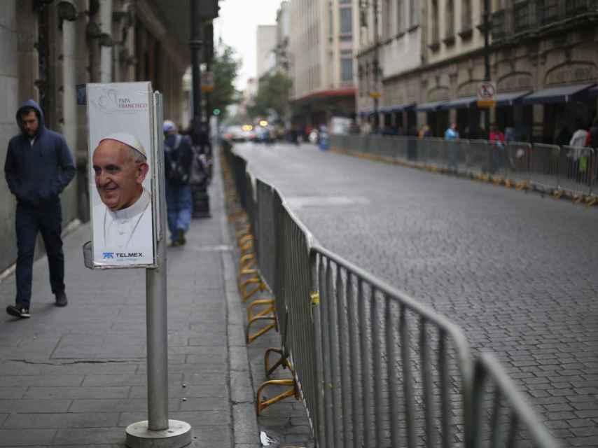 Las calles de México, preparadas para la visita papal.