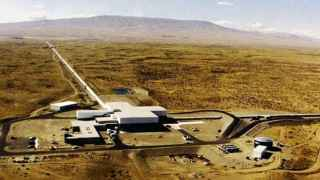 Vista aérea del observatorio LIGO de Hanford.
