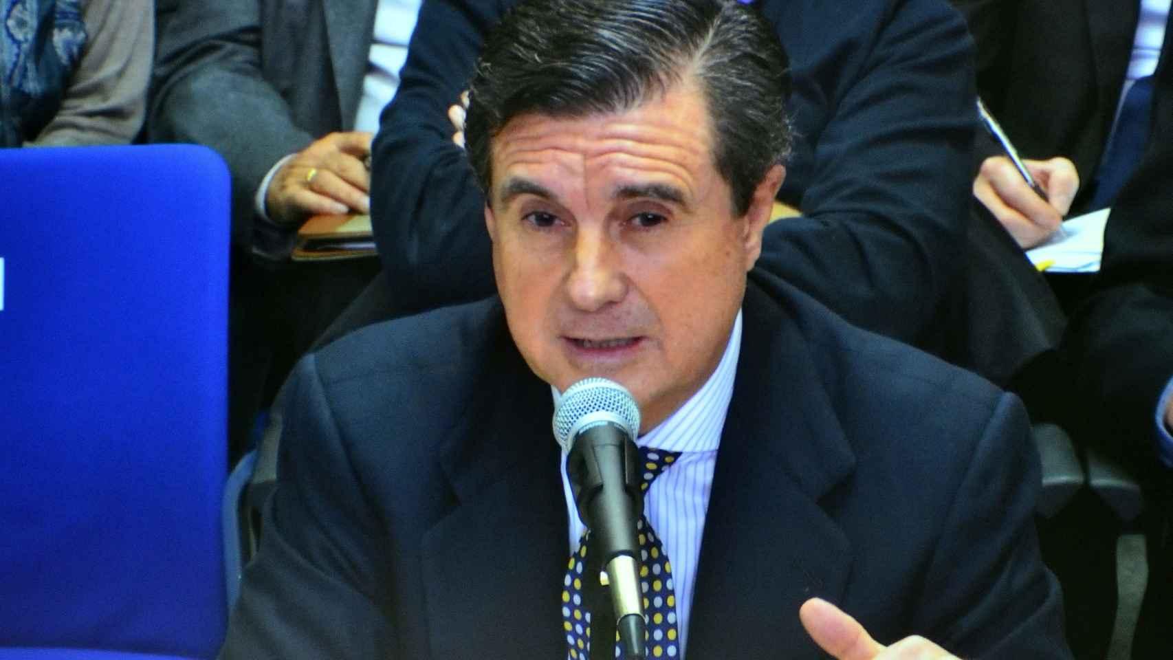 Jaume Matas, durante su comparecencia.
