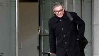 Jordi Pujol Ferrusola a su llegada esta mañana a la Audiencia Nacional.