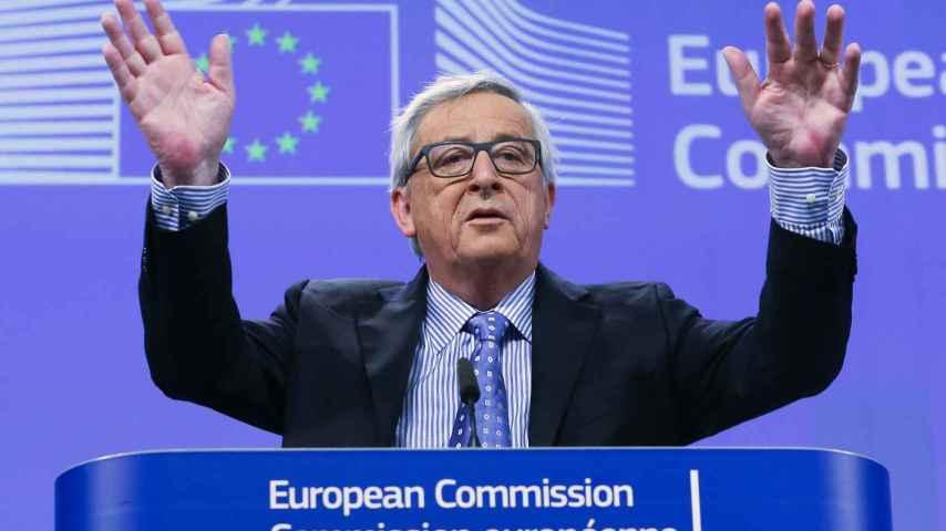 El presidente de la Comisión, Jean-Claude Juncker, en rueda de prensa