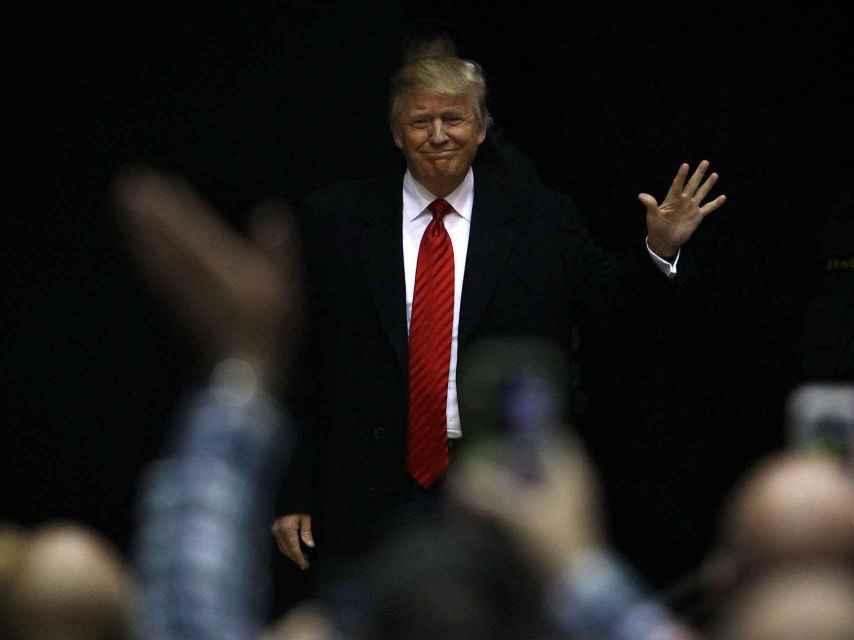 Donald Trump llega a un mitin en Carolina del Sur.