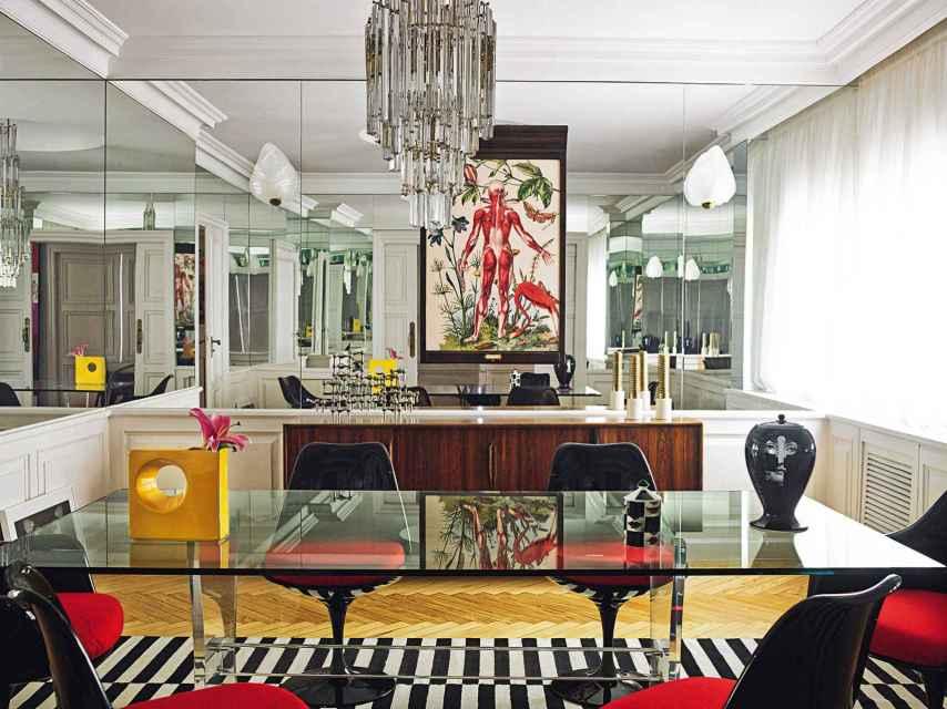 Interior de la casa de Bibiana Fernández en Madrid