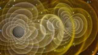 Ilustración que simula ondas gravitacionales.