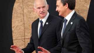 Los expresidentes de España y Grecia, Zapatero y Papandreu