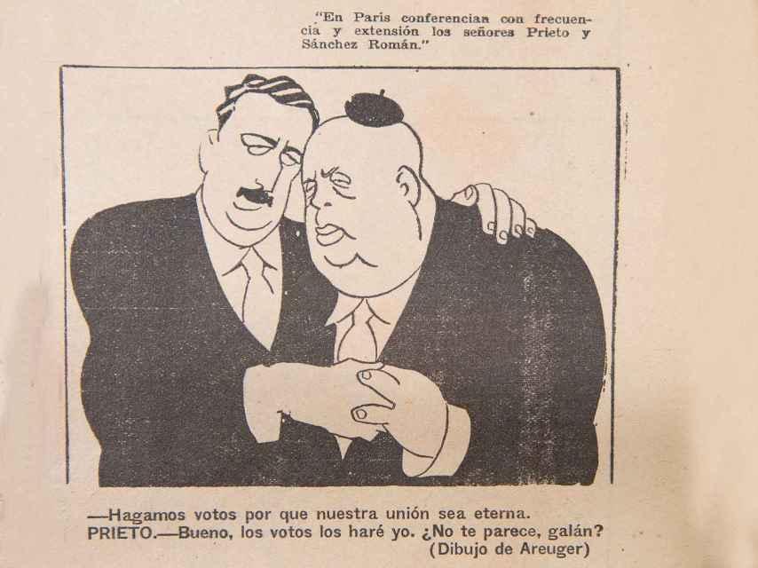Sánchez Román con Indalecio Prieto, por Areuger en Gracia y Justicia.
