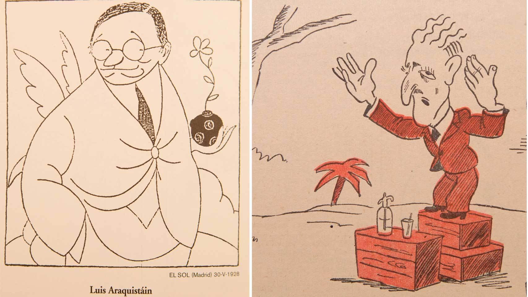 Luis Araquistain, por Bagaría, y Sánchez Román, en Gracia y Justicia.