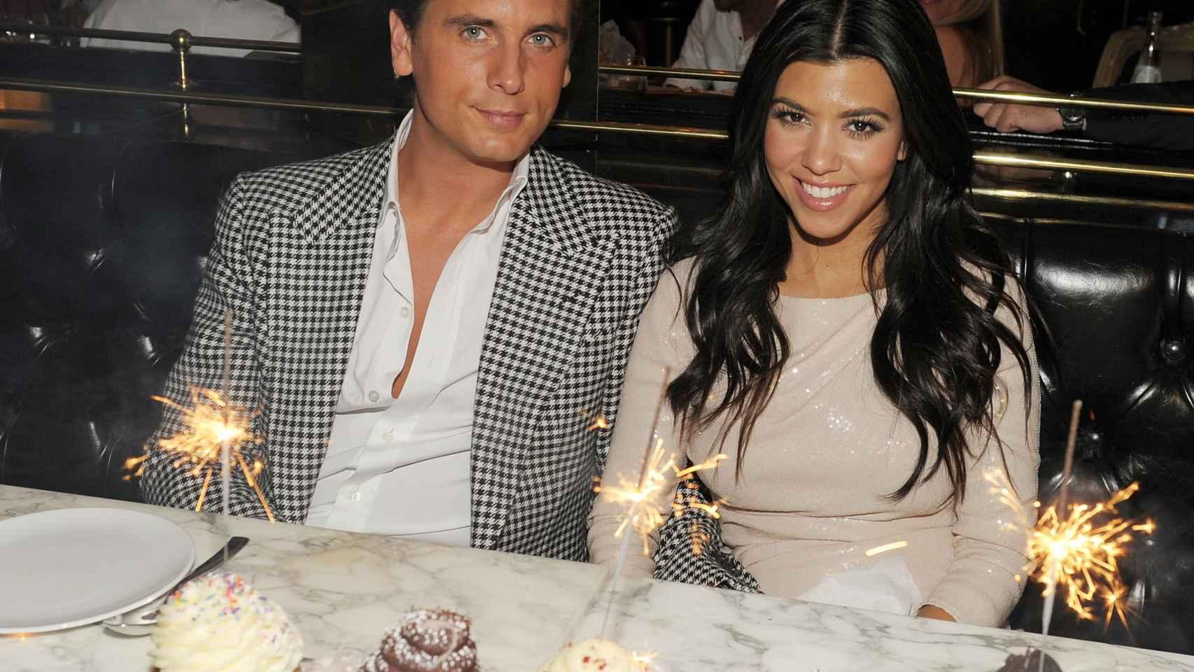 Kourtney Kardashian y su ex Scott Disick