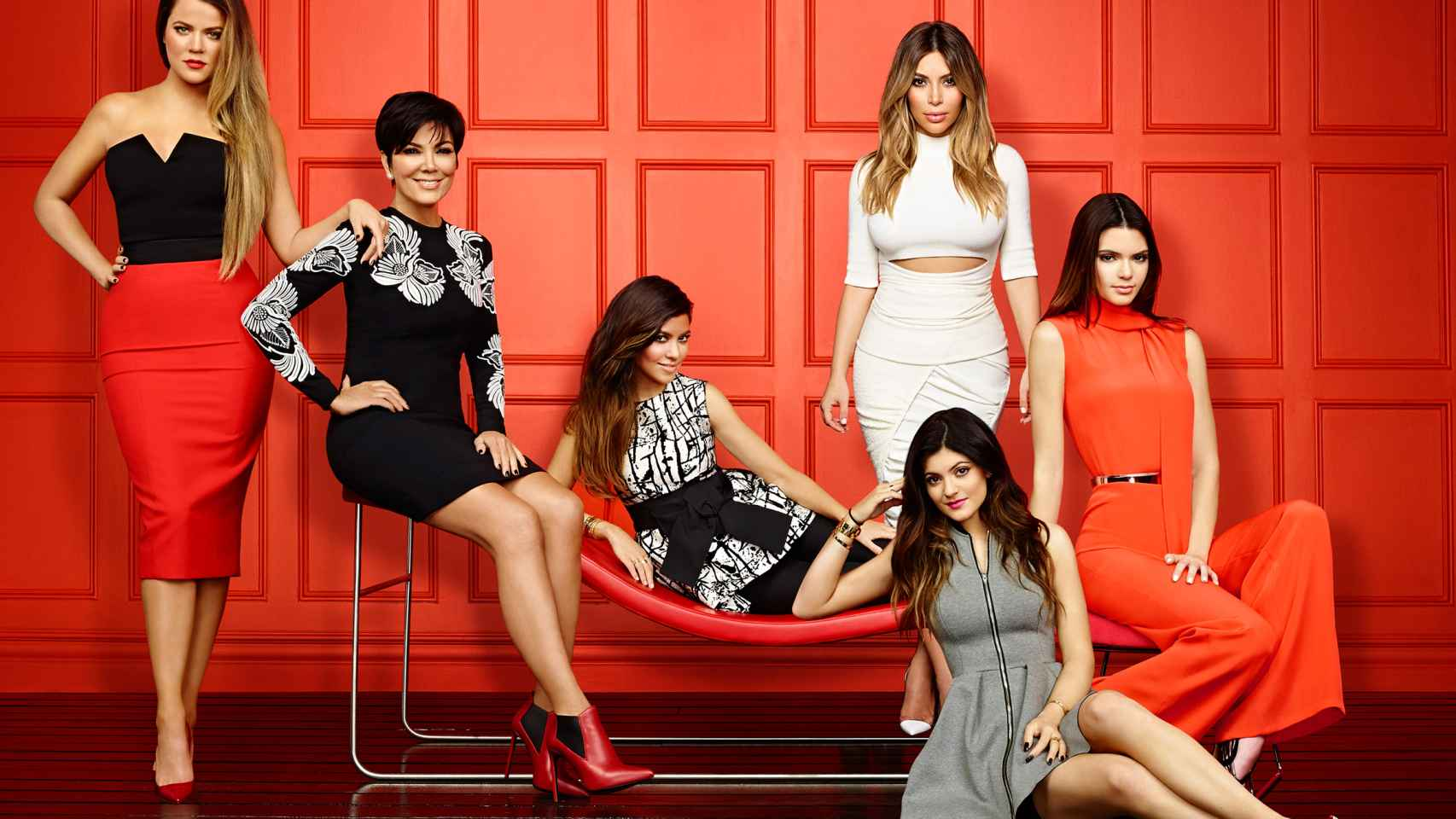 Las Kardashian en la promoción de su novena temporada