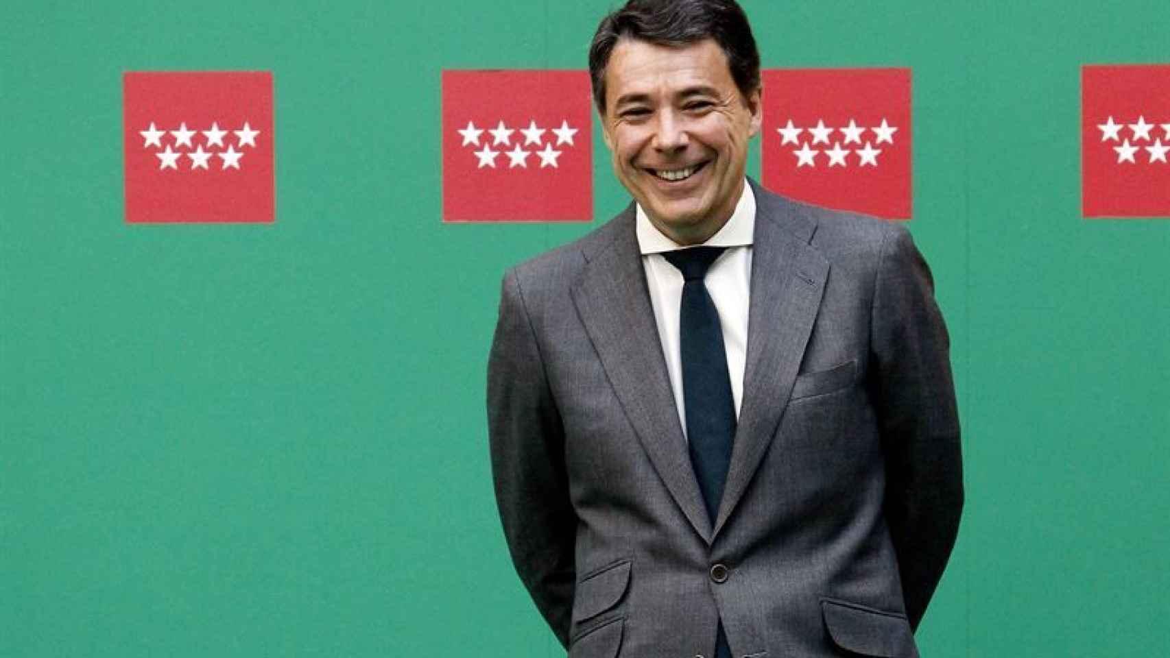 Ignacio González durante un acto en la Comunidad de Madrid.