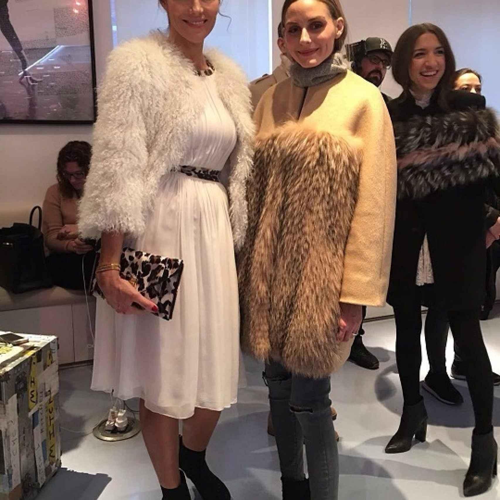 Adriana Abascal junto a Olivia Palermo en la Semana de la Moda de Nueva York