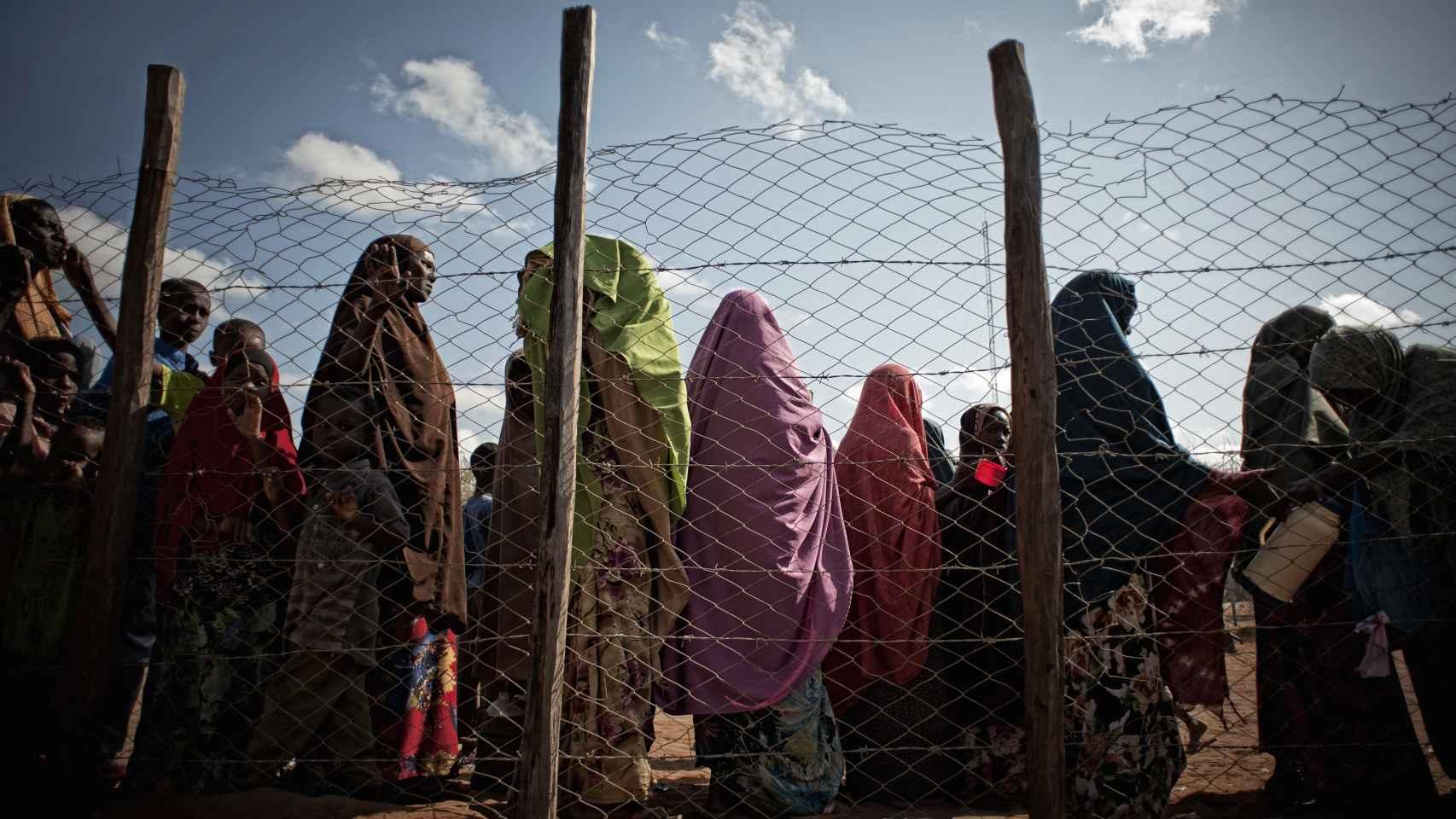 La mayoría de los refugiados en el campo de Dadaab, Kenia, son somalíes.