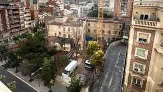 Las construcción de la residencia ya ha empezado, a pesar de que los jardines están protegidos