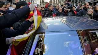 El concejal de Seguridad de Madrid, Javier Barbero, a la salida hoy de las dependencias municipales