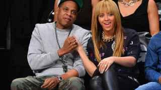 Beyoncé y Jay-Z en un partido de la NBA