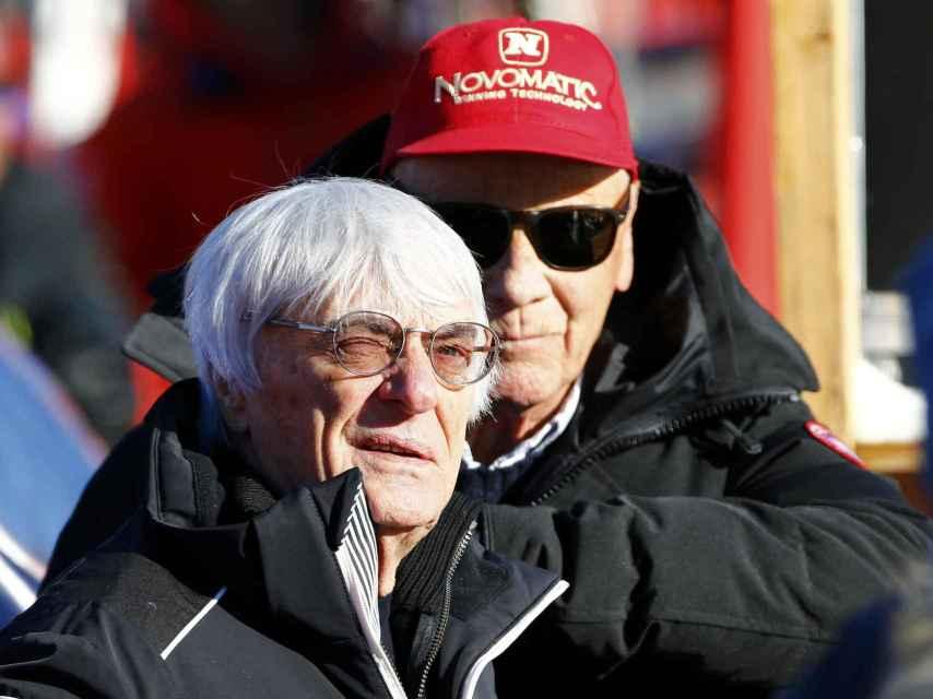 Bernie Ecclestone, en el paddock