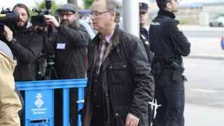 Marco Antonio Tejeiro, a su llegada a la Escuela Balear de la Administración Pública.