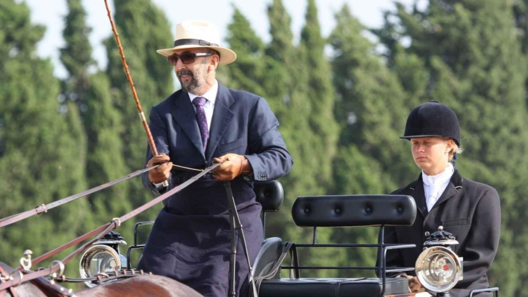 Ernesto Colman, en una competición de enganche.