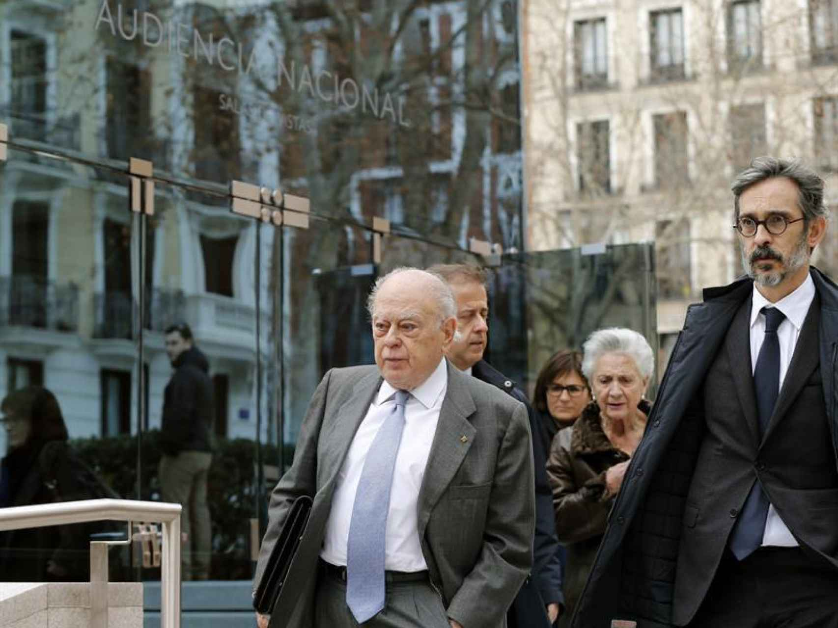 El expresident de la Generalitat a la salida de la Audiencia Nacional/Mariscal/EFE