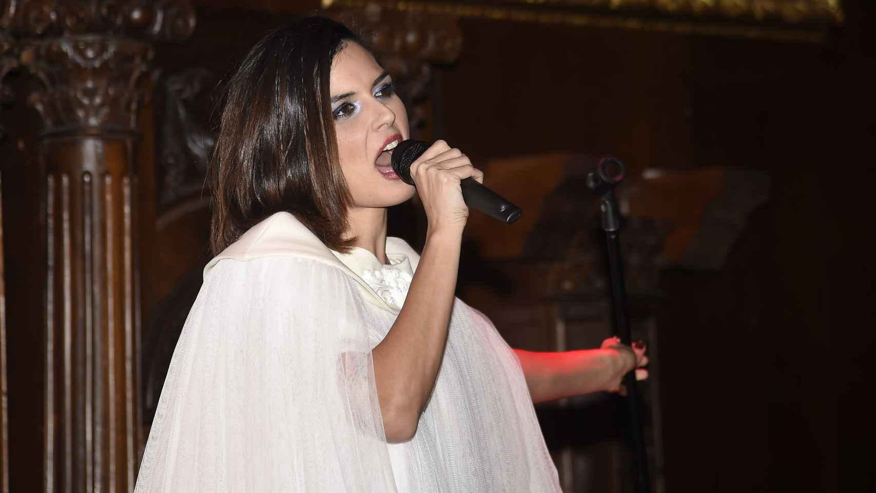 Maria Reyes durante la presentación de su nuevo proyecto de música electrónica
