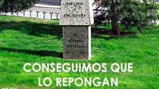 La Fundación Francisco Franco celebra en Internet la reposición del monolito al Alférez Provisional.