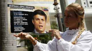 Lilian Tintori recuerda la situación de su marido, Leopoldo López.