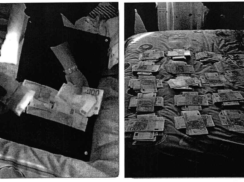 Los investigadores localizaron 922.000 euros en billetes de 100, 200 y 500 euros.