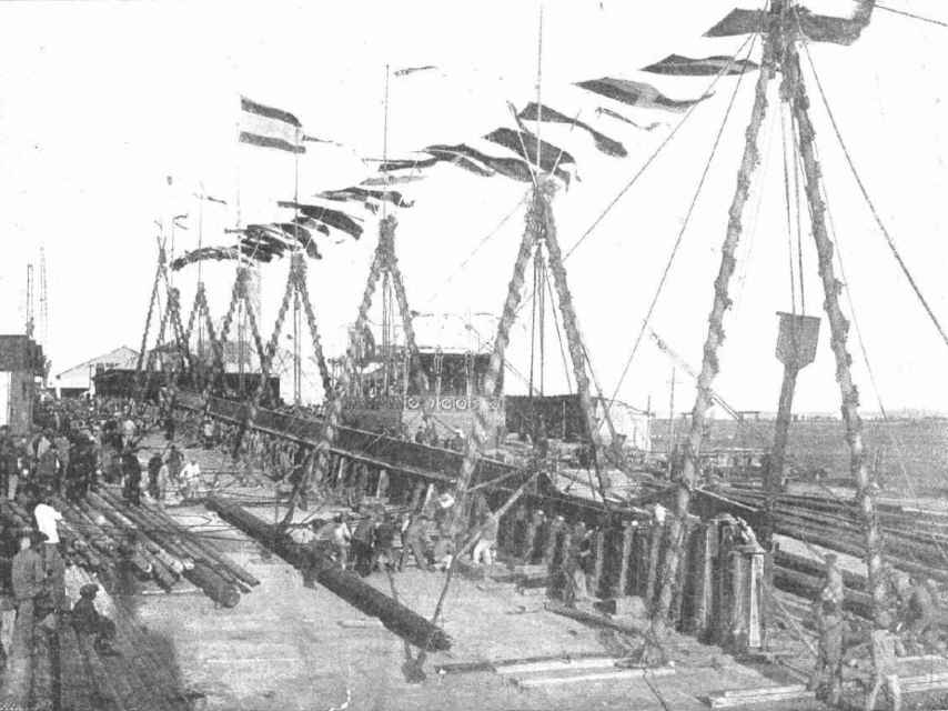 Construcción de un buque para la CTE, 1914.