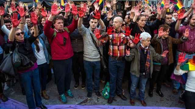 Manifestación contra las agresiones homófobas del 23 de enero