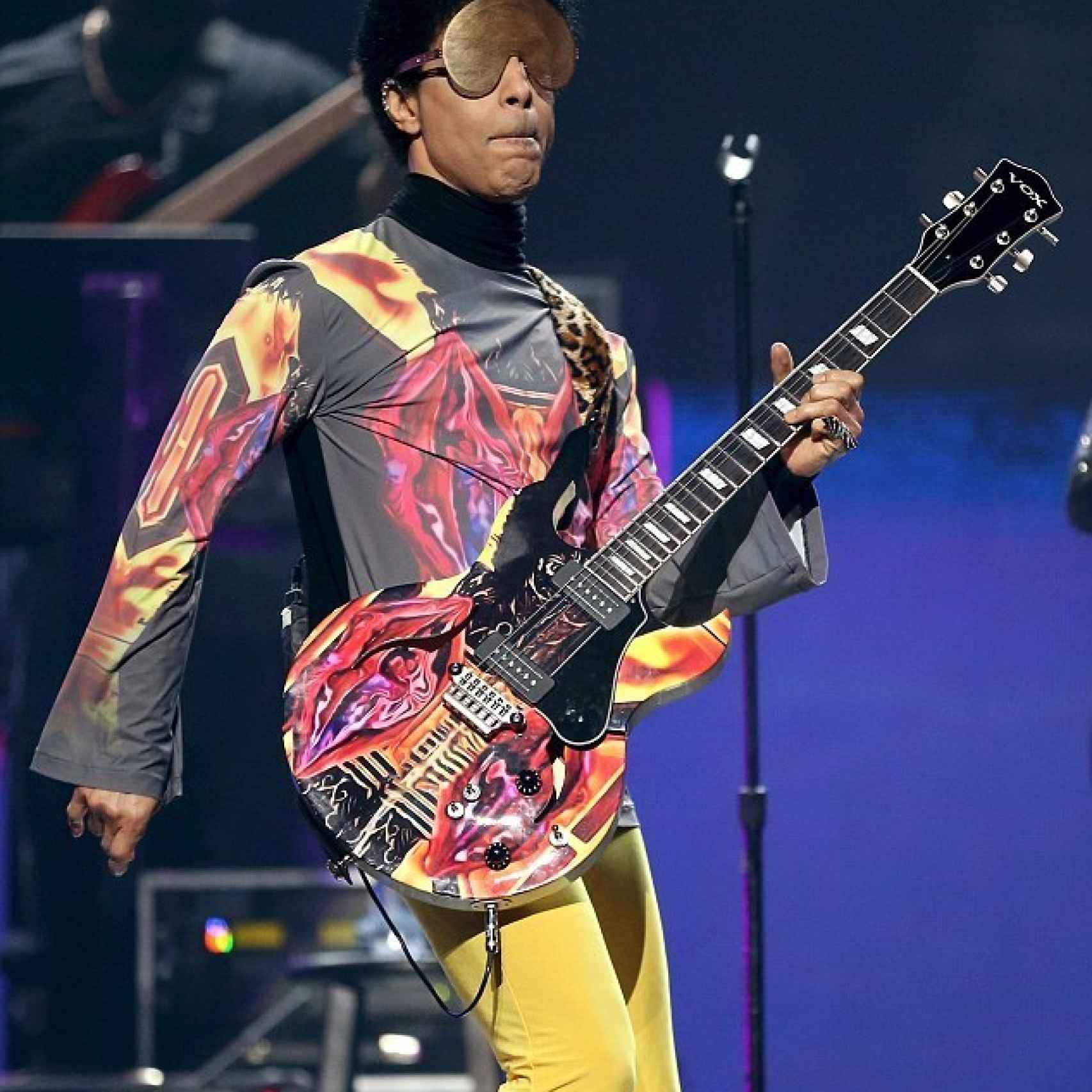 El cantante Prince en concierto