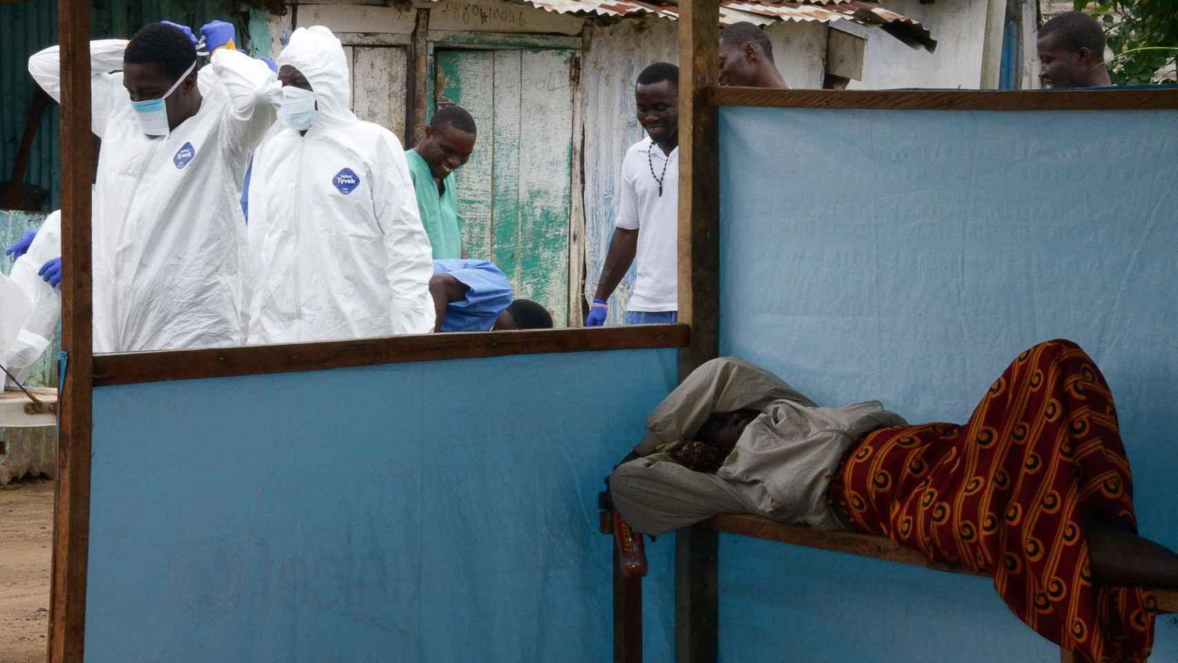 Brote de ébola en un país de África