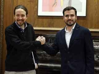 Iglesias y Garzón, en una reunión en el Congreso.