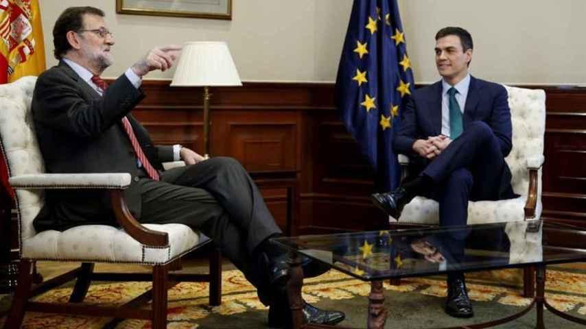Rajoy y Pedro Sánchez, durante la última reunión mantenida entre ambos.